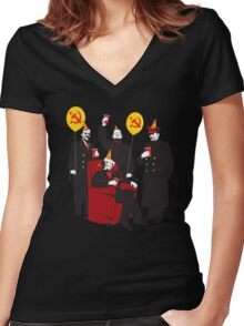 The Communist Party 3: The Communing Women's Fitted V-Neck T-Shirt