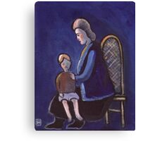 The babysitter (from my original acrylic painting) Canvas Print