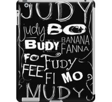 JUDY - The name game Remake White version iPad Case/Skin