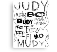 JUDY - THE name game Remake Black version Metal Print