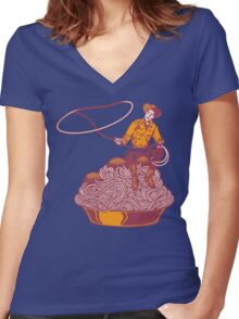 Spaghetti Western Women's Fitted V-Neck T-Shirt