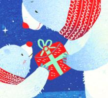Polar Bear Present Sticker