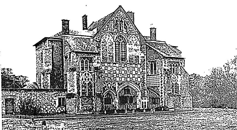 Suffolk abbey by Victor Barker