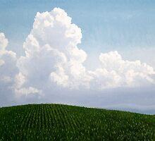 Corn and Clouds by JoCzech