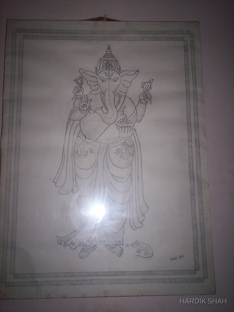 GANPATI SKETCHES IN STANDING POSITION. by HARDIK SHAH