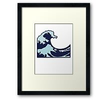 Wave Emoji Framed Print