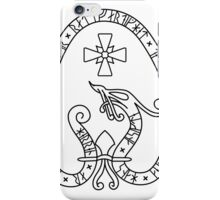 Viking Rune Stone (white bg, black lines) iPhone Case/Skin