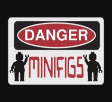 Danger Minifigs Sign Kids Clothes