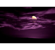 Purple moon wanted Photographic Print