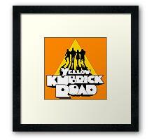 Yellow Kubrick Road Framed Print