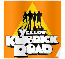 Yellow Kubrick Road Poster