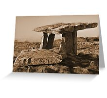 The Poulnabrone Dolmen Greeting Card