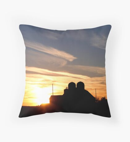 Magical country sunset II Throw Pillow