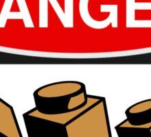 Danger Bricks Sign Sticker