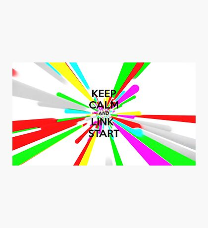 Keep Calm and Link Start Photographic Print