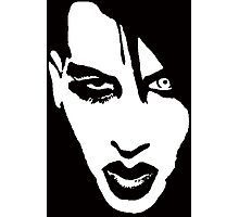 Stencil Marilyn Manson Face Photographic Print