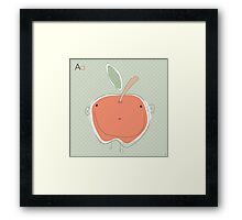 'A' is for Framed Print