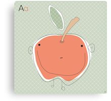 'A' is for Canvas Print