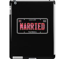 Same Sex Marriage License Plate iPad Case/Skin