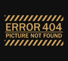 ERROR 404 picture not found yellow  by KokoBlacksquare