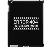 ERROR 404 picture not found WHITE iPad Case/Skin