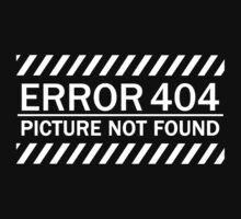 ERROR 404 picture not found WHITE by KokoBlacksquare