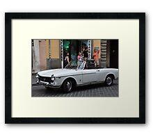 White Fiat Framed Print