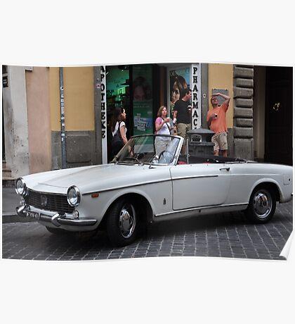 White Fiat Poster