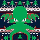 Cthulhu Cultist Christmas - Cthulhu Ugly Christmas Sweater by RetroReview