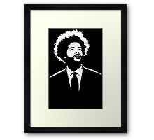 Stencil Questlove The Roots Framed Print