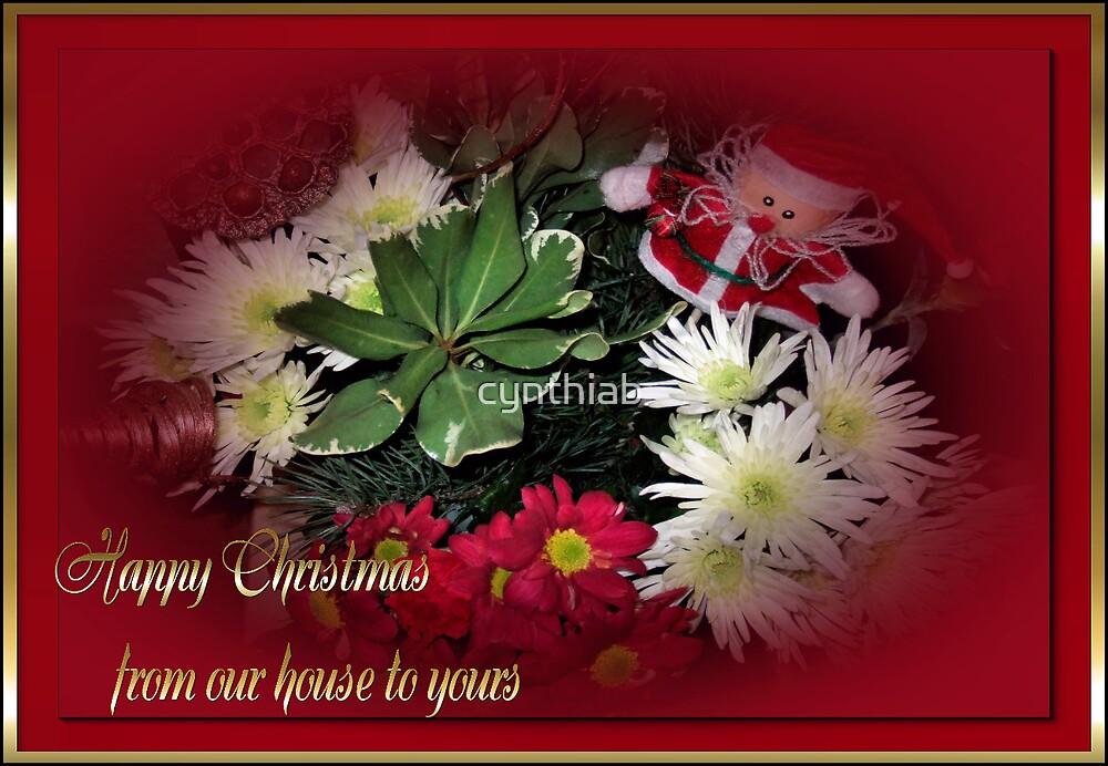 christmas day flowers by cynthiab