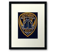 Gotham City PD T-shirt Framed Print