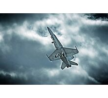 Aussie FA-18 gaining speed Photographic Print