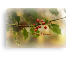 Christmas Holly` Canvas Print