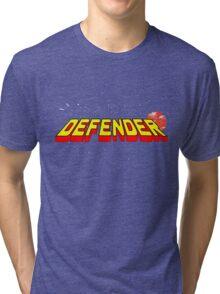 Arcade Classic - Defender. Tri-blend T-Shirt