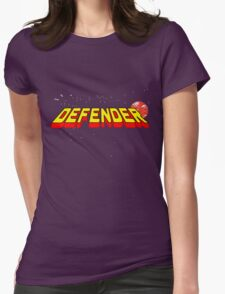 Arcade Classic - Defender. Womens Fitted T-Shirt