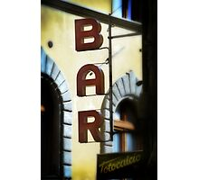A Bar in Chianti Photographic Print