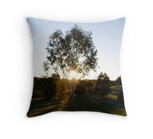 Sunset Tree-Kny Farm Throw Pillow