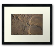 Nature Sand Sculpture Framed Print