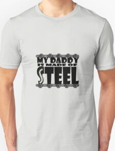 My Daddy Is Made Of Steel - Scoliosis Awareness T-Shirt
