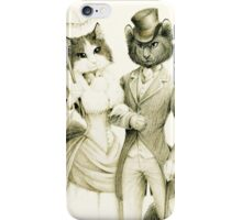 Victorian Cat Series 01 iPhone Case/Skin