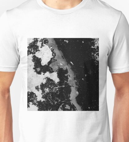 Lost In The Mystery - Black and white, textured abstract Unisex T-Shirt
