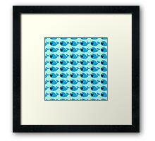 Cute Narwhale happy pattern Framed Print
