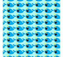 Cute Narwhale happy pattern Photographic Print