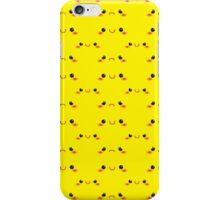 Cute KAWAII little happy and sad faces in yellow like pikachu iPhone Case/Skin