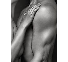 Closeup of Naked Woman and Man Body Parts art photo print Photographic Print