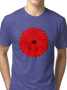 Abstract flower Tri-blend T-Shirt