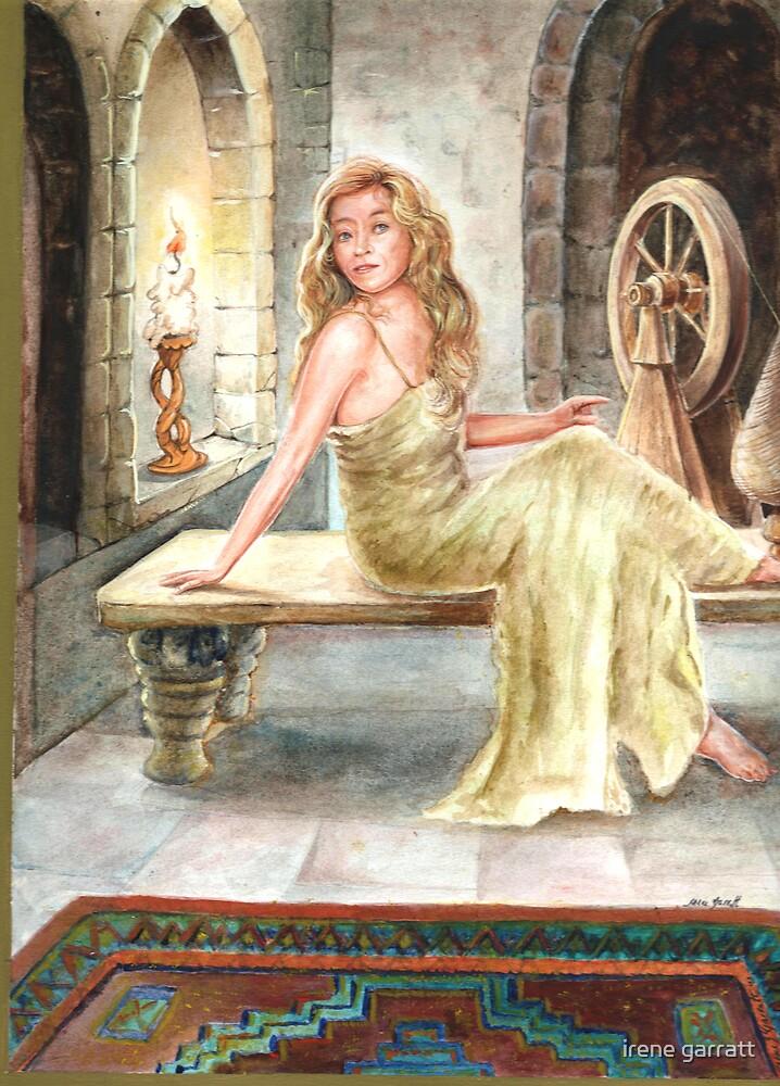 A beautiful girl in her castle by irene garratt