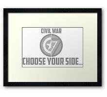 Marvel Civil War - Choose Your Side V.01 Framed Print