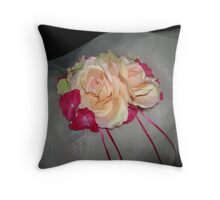 Tia Monica wedding headpiece- wedding art  Throw Pillow